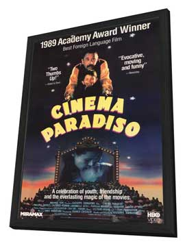 Cinema Paradiso - 27 x 40 Movie Poster - Style B - in Deluxe Wood Frame