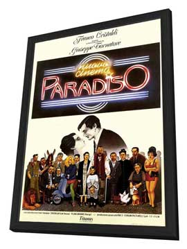 Cinema Paradiso - 27 x 40 Movie Poster - Style A - in Deluxe Wood Frame