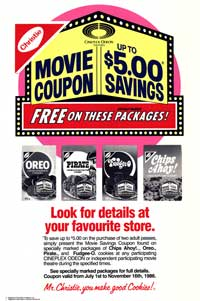 Cineplex Odeon Nabisco Coupon Savings - 43 x 62 Movie Poster - Bus Shelter Style B