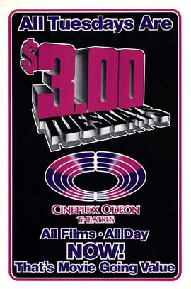 Cineplex Odeon Tuesdays - 27 x 40 Movie Poster - Style A