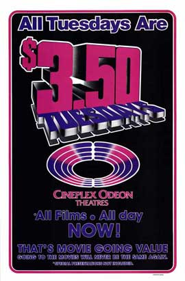 Cineplex Odeon Tuesdays - 11 x 17 Movie Poster - Style B