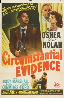 Circumstantial Evidence - 27 x 40 Movie Poster - Style A
