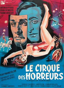 Circus of Horrors - 11 x 17 Movie Poster - French Style A