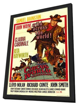 Circus World - 11 x 17 Movie Poster - Style A - in Deluxe Wood Frame