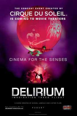 Cirque du Soleil - DELIRIUM - 27 x 40 Movie Poster - Style B