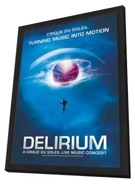 Cirque du Soleil - DELIRIUM - 11 x 17 Cirque du Soliel Poster - in Deluxe Wood Frame