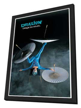 Cirque du Soleil - Dralion� - 11 x 17 Poster - Foot Juggling Act - in Deluxe Wood Frame