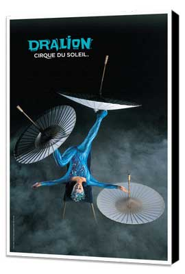 Cirque du Soleil - Dralion™ - 11 x 17 Poster - Foot Juggling Act - Museum Wrapped Canvas