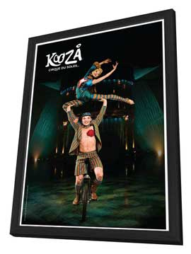 Cirque du Soleil - Kooza� - 11 x 17 Poster - Unicycle Duo - in Deluxe Wood Frame