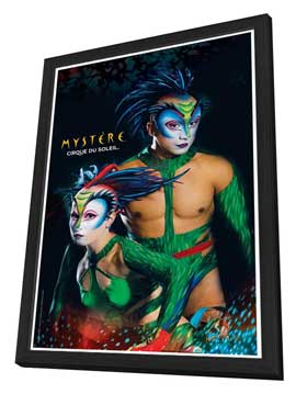Cirque du Soleil - Mystere� - 11 x 17 Poster - The Green Lizards - in Deluxe Wood Frame