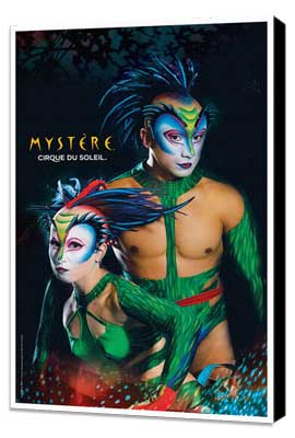 Cirque du Soleil - Mystere� - 11 x 17 Poster - The Green Lizards - Museum Wrapped Canvas