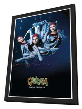 Cirque du Soleil - Quidam� - 11 x 17 Poster - Aerial Hoops - in Deluxe Wood Frame