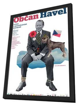 Citizen Havel - 11 x 17 Movie Poster - Czchecoslovakian Style A - in Deluxe Wood Frame