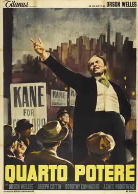 Citizen Kane - 27 x 40 Movie Poster - Italian Style B
