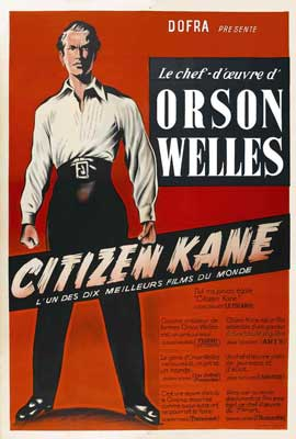 Citizen Kane - 27 x 40 Movie Poster - French Style A