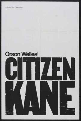 Citizen Kane - 11 x 17 Movie Poster - Style K