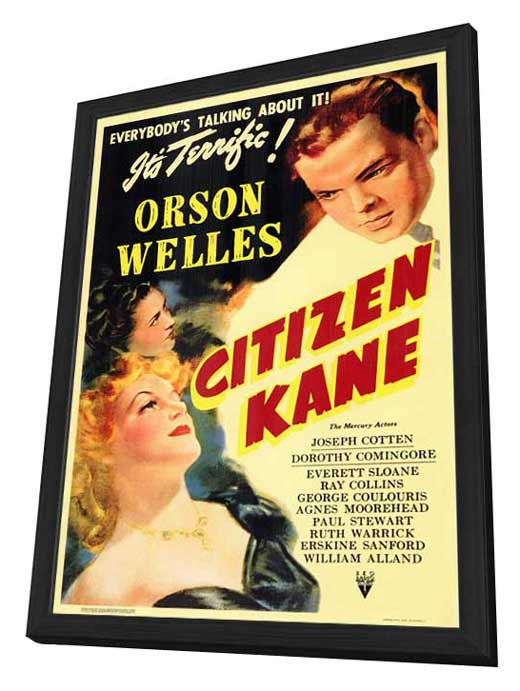 Citizen Kane - 11 x 17 Movie Poster - Style A - in Deluxe Wood Frame