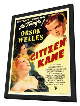 Citizen Kane - 27 x 40 Movie Poster - Style A - in Deluxe Wood Frame