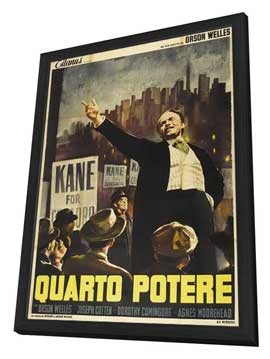 Citizen Kane - 27 x 40 Movie Poster - Italian Style B - in Deluxe Wood Frame