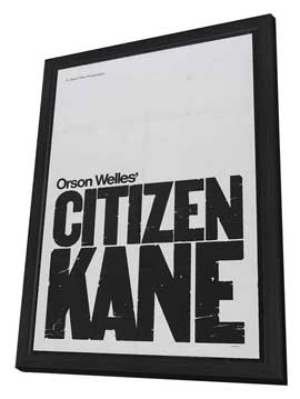 Citizen Kane - 27 x 40 Movie Poster - Style D - in Deluxe Wood Frame
