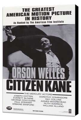 Citizen Kane - 11 x 17 Movie Poster - Style A - Museum Wrapped Canvas