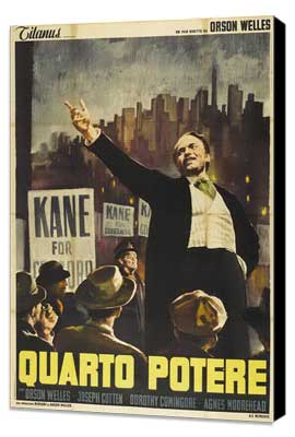 Citizen Kane - 27 x 40 Movie Poster - Italian Style B - Museum Wrapped Canvas