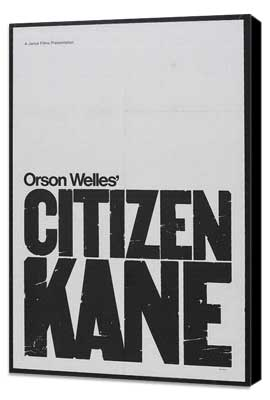 Citizen Kane - 27 x 40 Movie Poster - Style D - Museum Wrapped Canvas
