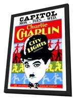 City Lights - 27 x 40 Movie Poster - Style A - in Deluxe Wood Frame