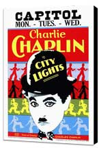 City Lights - 27 x 40 Movie Poster - Style A - Museum Wrapped Canvas