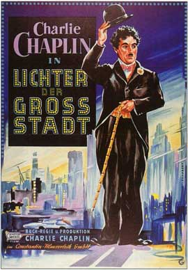City Lights - 11 x 17 Movie Poster - German Style A