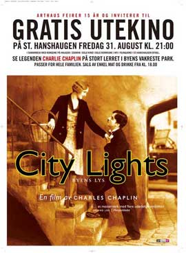 City Lights - 27 x 40 Movie Poster - Norwegian Style A
