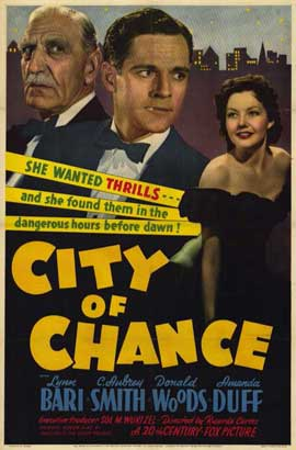 City of Chance - 11 x 17 Movie Poster - Style A