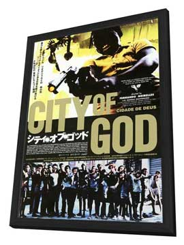 City of God - 11 x 17 Poster - Foreign - Style A - in Deluxe Wood Frame