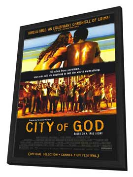 City of God - 11 x 17 Movie Poster - Style A - in Deluxe Wood Frame