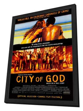 City of God - 27 x 40 Movie Poster - Style A - in Deluxe Wood Frame