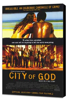 City of God - 11 x 17 Movie Poster - Style A - Museum Wrapped Canvas