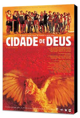 City of God - 11 x 17 Movie Poster - Brazilian Style B - Museum Wrapped Canvas