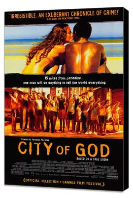 City of God - 27 x 40 Movie Poster - Style A - Museum Wrapped Canvas