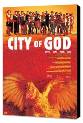 City of God - 27 x 40 Movie Poster - Danish Style A - Museum Wrapped Canvas