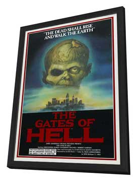 City of the Living Dead - 27 x 40 Movie Poster - Style A - in Deluxe Wood Frame