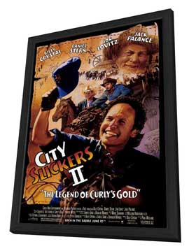 City Slickers 2: The Legend of Curly's Gold - 27 x 40 Movie Poster - Style A - in Deluxe Wood Frame