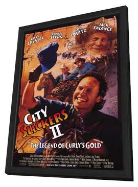 City Slickers 2: The Legend of Curly's Gold - 11 x 17 Movie Poster - Style A - in Deluxe Wood Frame