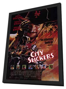 City Slickers - 11 x 17 Movie Poster - Style A - in Deluxe Wood Frame