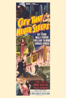 City that Never Sleeps - 27 x 40 Movie Poster - Style A