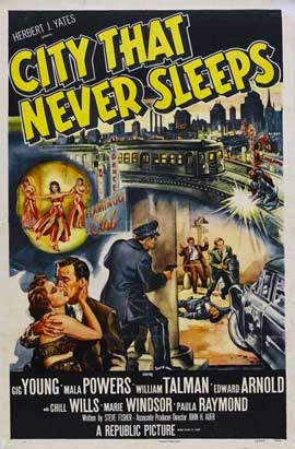 City that Never Sleeps - 27 x 40 Movie Poster - Style B