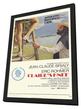 Claire's Knee - 11 x 17 Movie Poster - Style A - in Deluxe Wood Frame