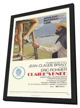 Claire's Knee - 27 x 40 Movie Poster - Style A - in Deluxe Wood Frame