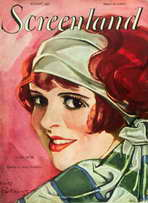 Clara Bow - 11 x 17 Screenland Magazine Cover 1920's Style A