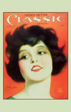 Clara Bow - 11 x 17 Motion Picture Classic Magazine Cover 1920's Style A