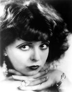 Clara Bow - Clara Bow Close Up Portrait with Dark lipstick